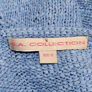 S.A. Collection Sweaters - S.A. COLLECTION Short Sleeve Tropical Sweater Top.